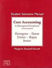 Student's Solution Manual Cost Accounting