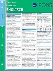 PONS Grammatik auf einen Blick, Englisch .
