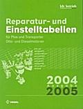 Reparatur- und Einstelltabellen Ausgabe 2004/2005