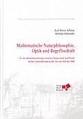 Mathematische Naturphilosophie, Optik und Begriffsschrift