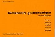 Dictionnaire gastronomique en cinq langues